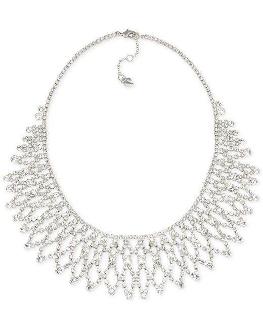 Carolee | Metallic Crystal Stems Glitz Collar Necklace | Lyst