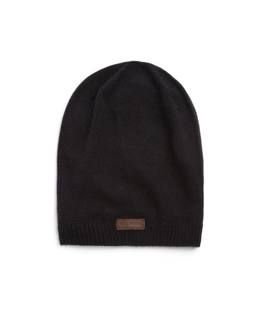 True Religion | Black Knit Slouchy Beanie for Men | Lyst