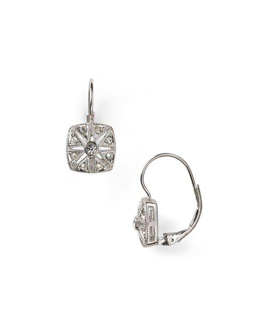 Nadri | Metallic Vintage Square Leverback Earrings | Lyst