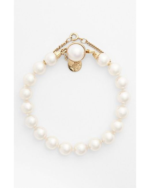 Majorica | White 8mm Single Row Pearl Bracelet | Lyst