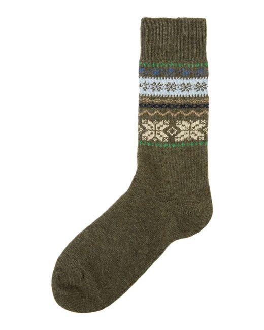 Barbour | Green Alston Fairisle Socks for Men | Lyst