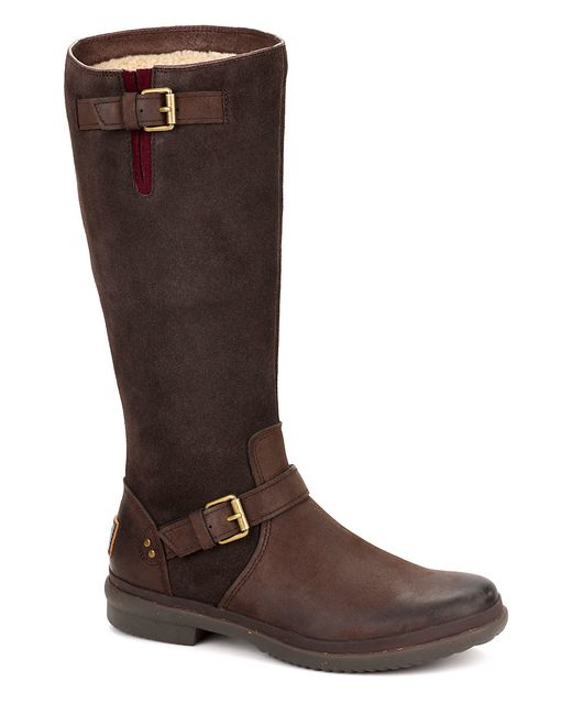 UGG | Brown Thomsen Pure-lined Suede & Leather Boots | Lyst