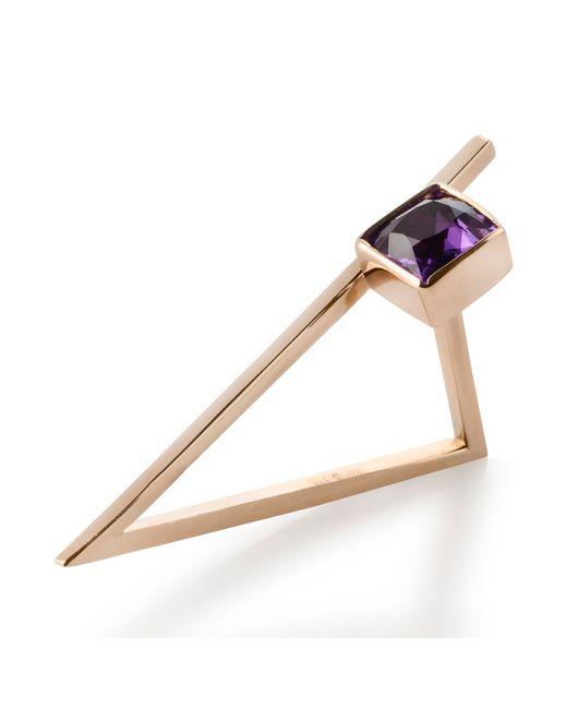 Myriamsos | Metallic The Triangle Ring | Lyst