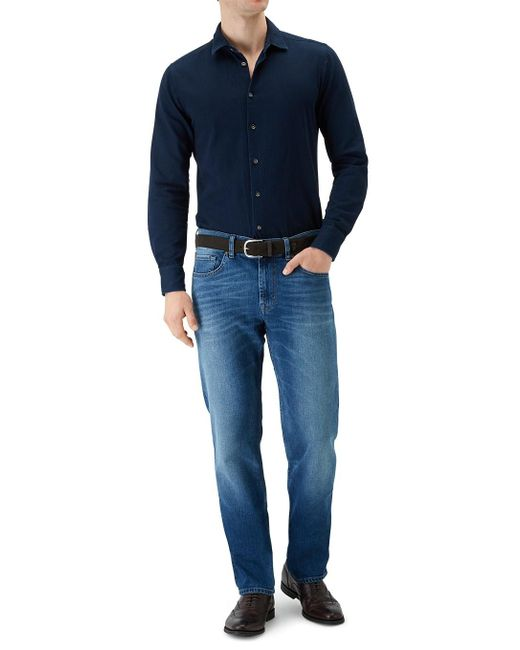 7 For All Mankind | Slimmy American Panorama Mid Blue for Men | Lyst