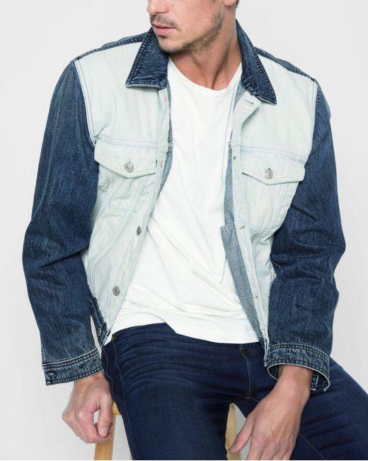 7 For All Mankind - Inside Out Trucker Jacket In Vintage Blue for Men - Lyst