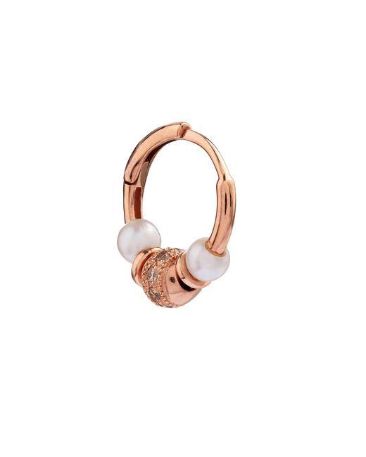 Elise Dray | Metallic Diamond, Pearl & Pink-Gold Mini Rock Earring | Lyst