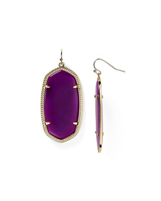 Kendra Scott | Goldplated Elle Earrings Purple | Lyst
