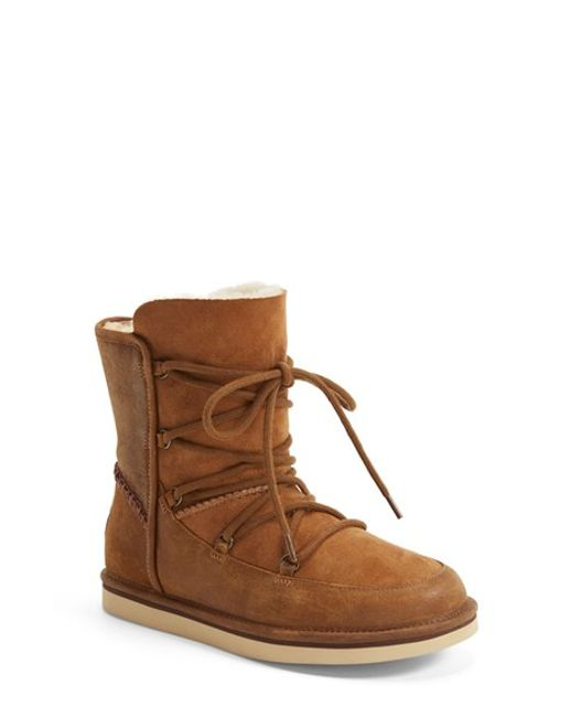UGG | Brown Ugg 'lodge' Water Resistant Lace-up Boot | Lyst