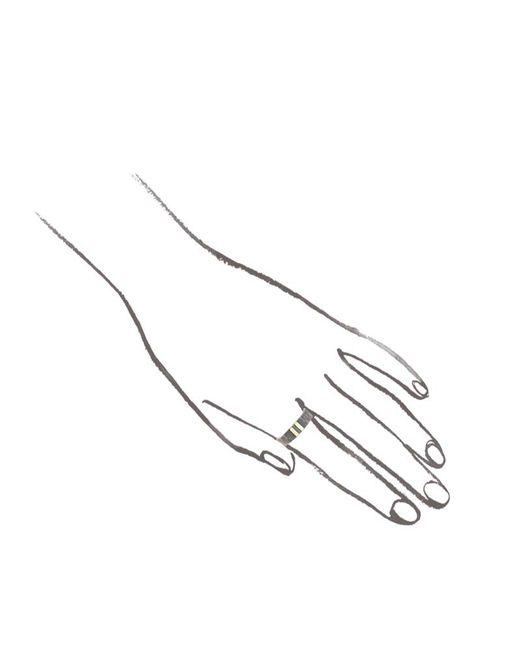 Melissa Joy Manning | Metallic Silver Ring With Dual Gold Stripe | Lyst