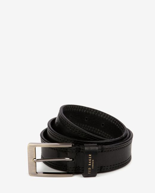 Ted Baker | Black Cricket Stitch Belt for Men | Lyst