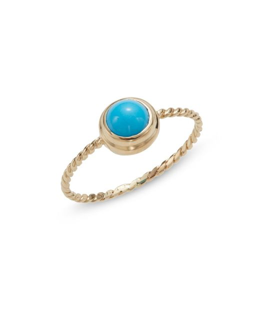 Anzie | Metallic Classique Turquoise & 14k Yellow Gold Rope Ring | Lyst
