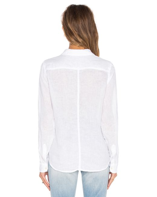Cp Shades Sloane Solid Linen Shirt In White Save 30 Lyst