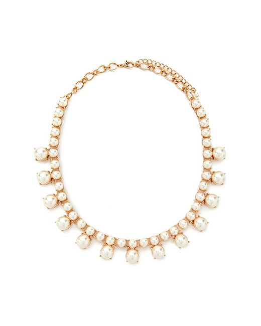 Forever 21 | Natural Faux Pearl Statement Necklace You've Been Added To The Waitlist | Lyst