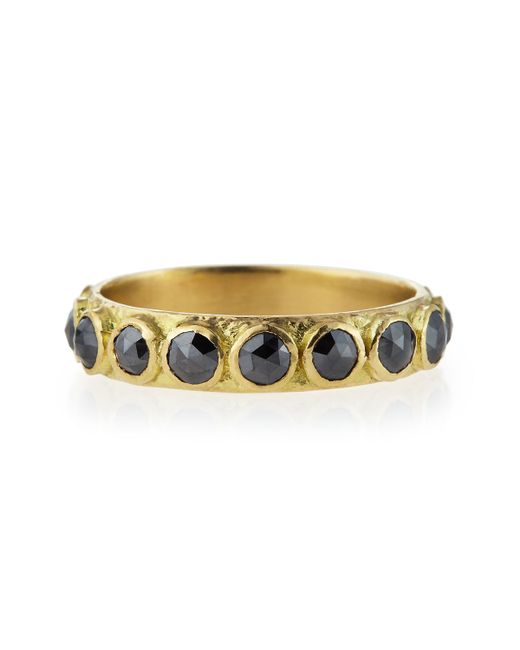 Armenta | 3mm Rose-cut Black Diamond Stackable Band Ring | Lyst