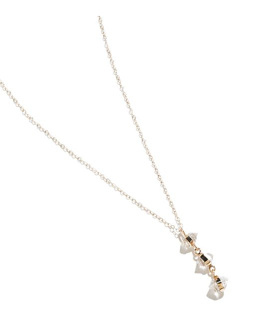 Melissa Joy Manning | Metallic Herkimer Diamond Three Drop Necklace | Lyst