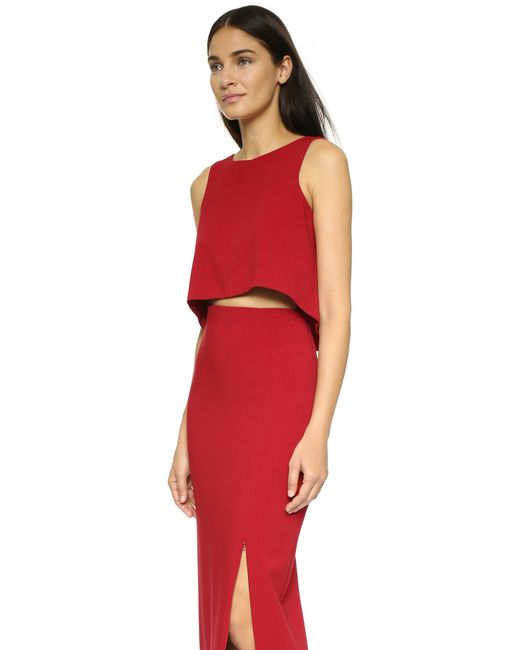Black Halo | Red Kacie 2 Piece Maxi Dress | Lyst