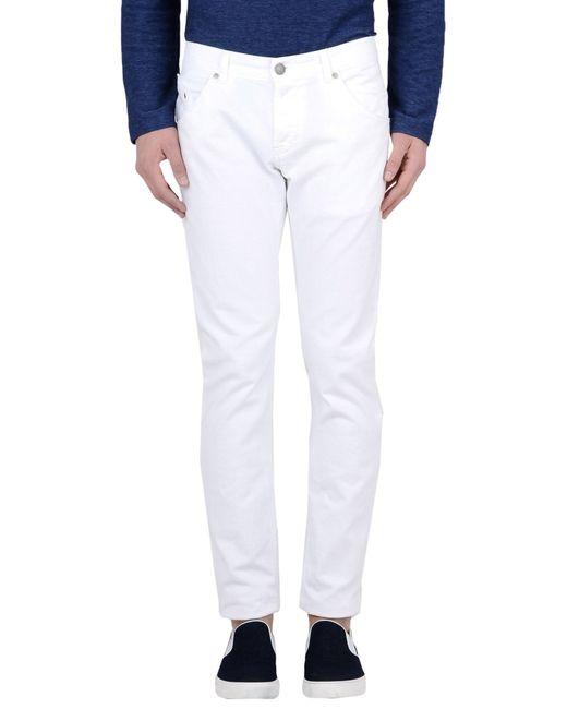 Dondup | White Denim Trousers for Men | Lyst