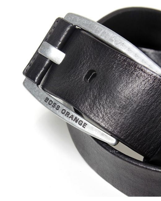 BOSS Orange | Black Bakaba Leather Belt for Men | Lyst