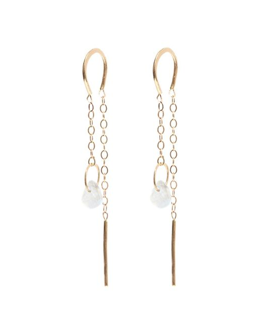 Melissa Joy Manning | Metallic Moonstone Horseshoe Chain Earrings | Lyst