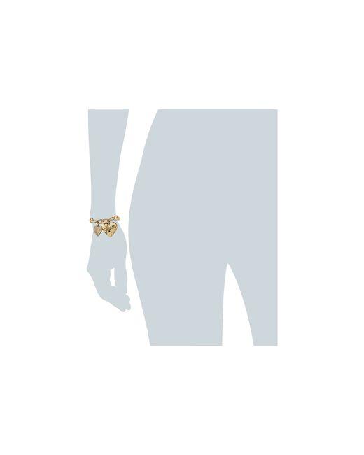 Guess | Metallic Two Heart Charm Bracelet | Lyst