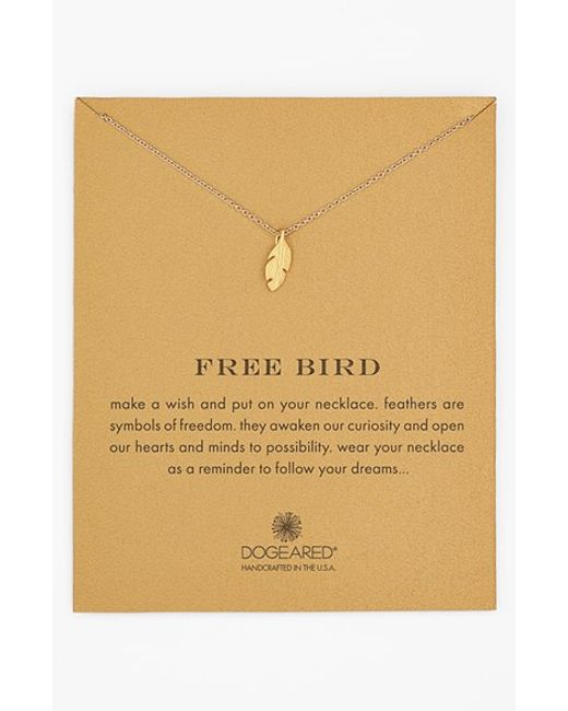 Dogeared | Metallic 'reminder - Free Bird' Feather Necklace | Lyst