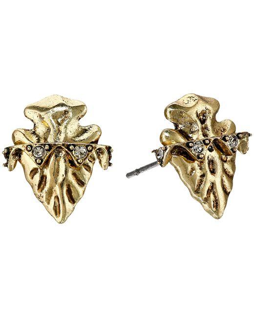 house of harlow 1960 mojave stud earrings in khaki gold