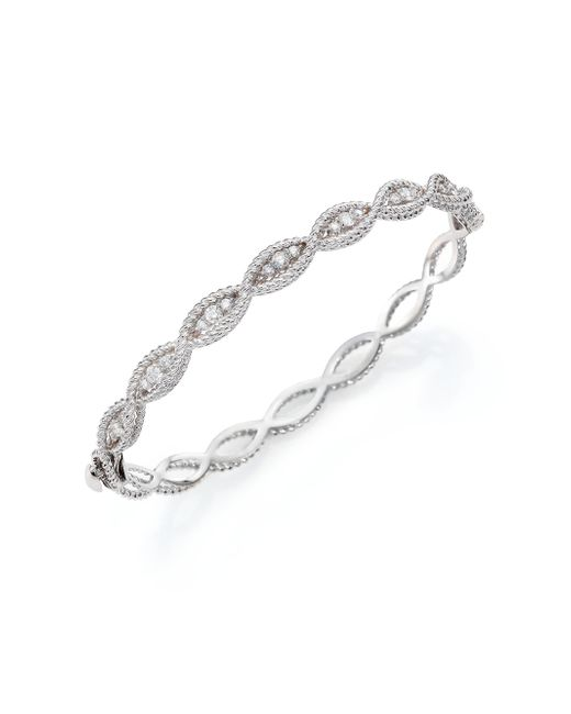 Roberto Coin | Barocco Diamond & 18k White Gold Braided Bangle Bracelet | Lyst