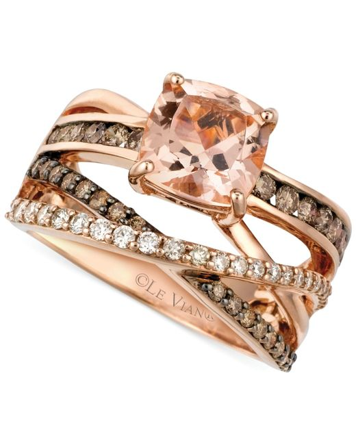 Le Vian | Pink Peach Morganite (1-3/4 Ct. T.w.) And Diamond (3/4 Ct. T.w.) Ring In 14k Rose Gold | Lyst