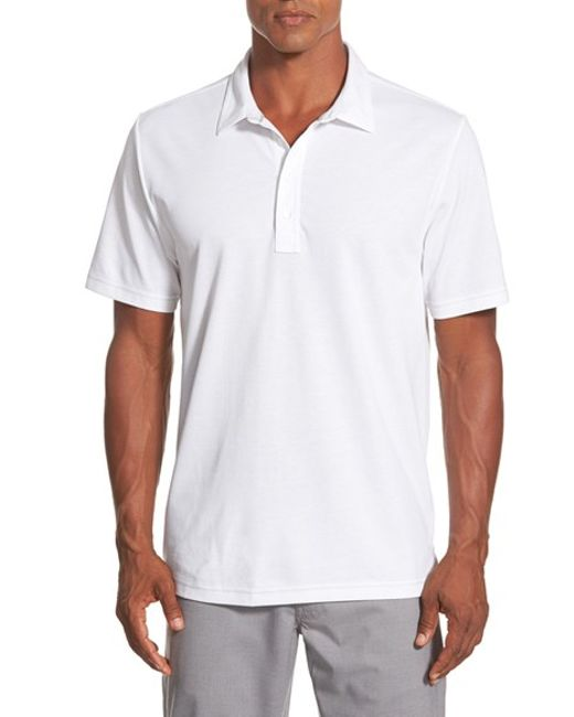 Travis Mathew | Red 'crenshaw' Trim Fit Golf Polo for Men | Lyst