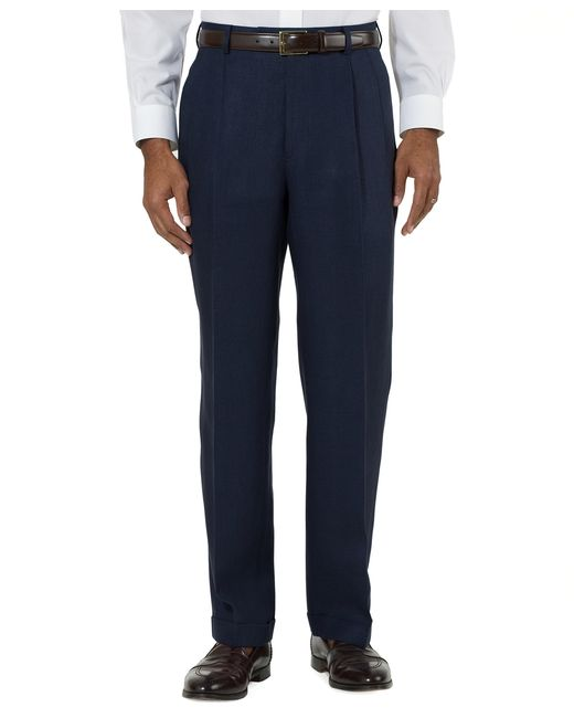 Brooks Brothers | Blue Irish Linen Pleat-front Trousers for Men | Lyst
