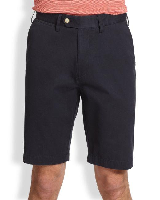 Saks Fifth Avenue | Blue Tailored Pima Cotton Shorts for Men | Lyst