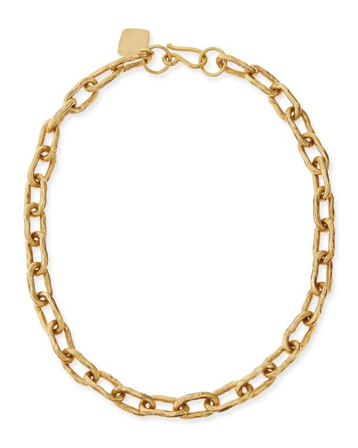 pittman 18 quot hammered bronze chain necklace in gold