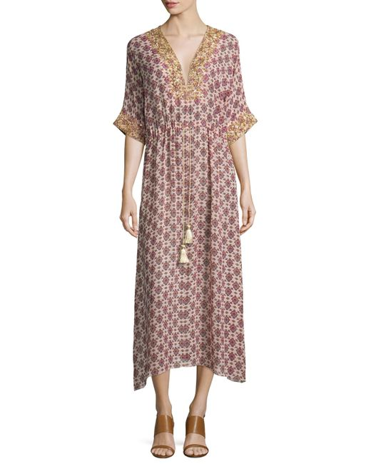 Figue calista medallion print silk dress in floral thalie for Mother of the bride dresses for casual summer wedding