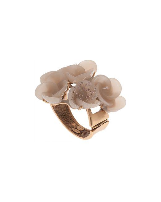 Oscar de la Renta | Natural Resin Swirl Flower Bracelet | Lyst
