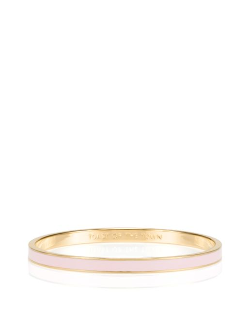 Kate Spade | Pink Friendship Idiom Bangles (set Of Three) | Lyst