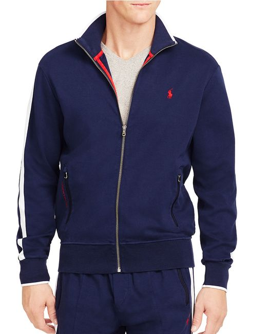 Polo Ralph Lauren | Blue Full-zip Interlock Track Jacket for Men | Lyst