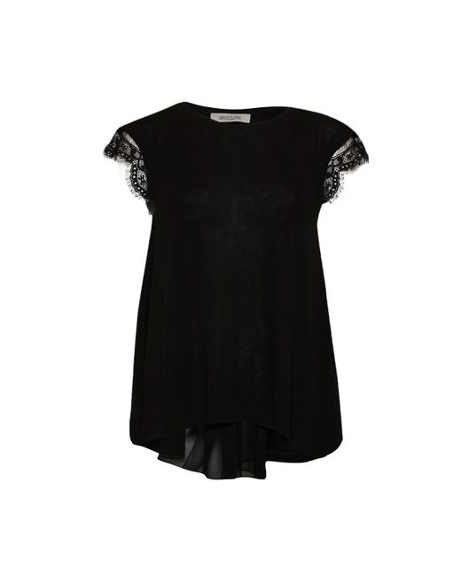 Great Plains | Black Quantic Jersey Pleats Back Top | Lyst