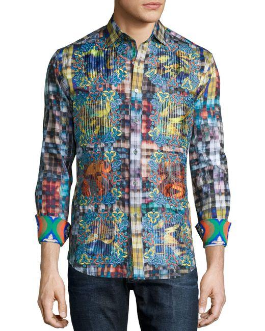 Robert graham limited edition plaid sport shirt with for Robert graham sport shirt