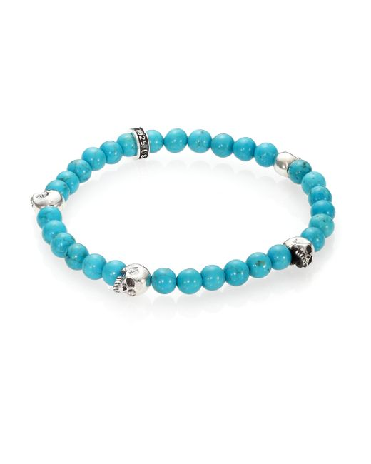 King Baby Studio | Blue Turquoise Beaded Bracelet for Men | Lyst