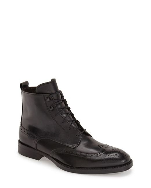 To Boot   Black 'brentwood' Wingtip Boot for Men   Lyst