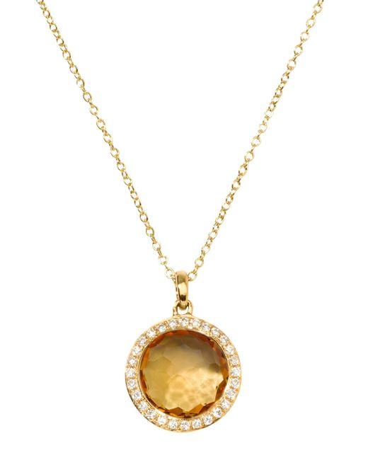 Ippolita | Metallic Rock Candy 18k Gold Mini Lollipop Necklace In Citrine & Diamond | Lyst