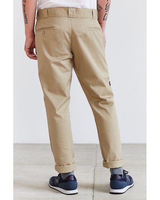 dickies skinny straight work pant in khaki for men lyst