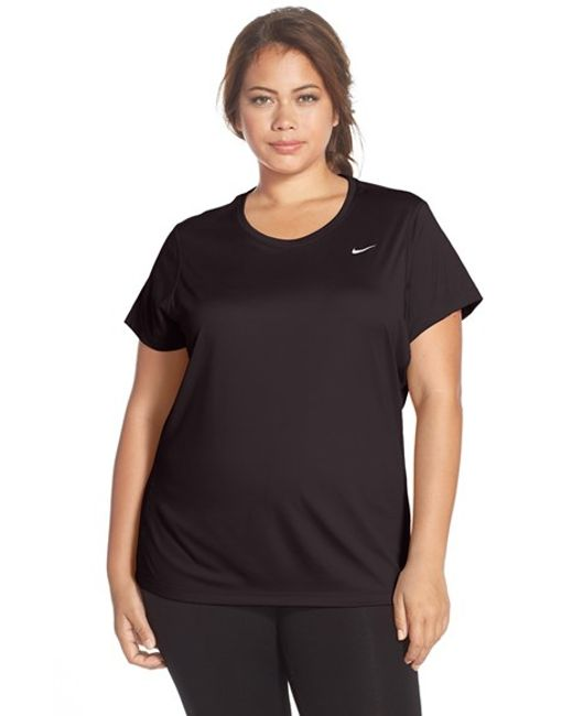 Nike | Black 'miler' Dri-fit Extended Short Sleeve Top | Lyst