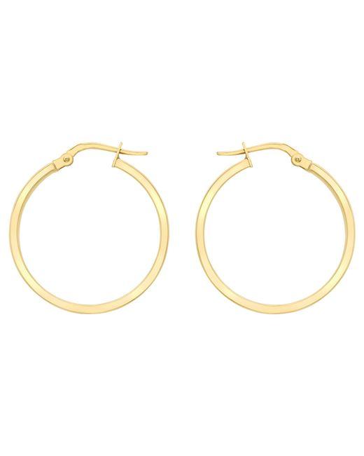 Ib&b   Metallic 9ct Yellow Gold Creole Hoop Earrings   Lyst