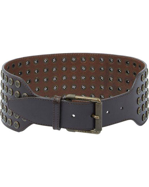 belstaff s holt wide belt in brown save 77 lyst