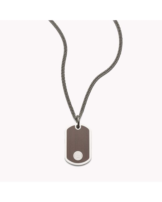 Tommy Hilfiger | Metallic Dog Tag Necklace for Men | Lyst