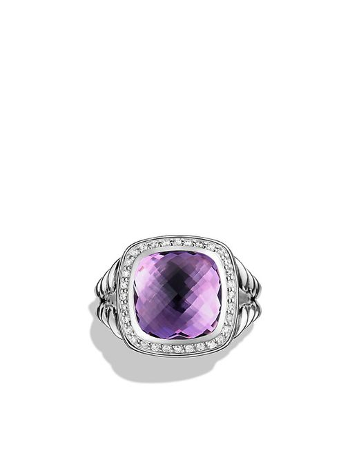 David Yurman | Purple Albion Ring With Amethyst And Diamonds, 11mm | Lyst