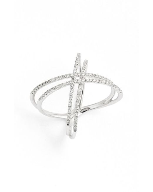 Bony Levy | Metallic Double X Crossover Diamond Ring (nordstrom Exclusive) | Lyst