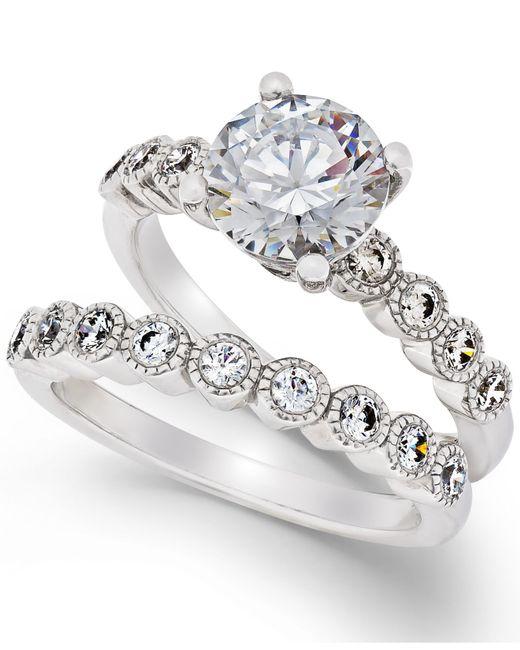 Arabella   Metallic Swarovski Zirconia Bridal Set In Sterling Silver   Lyst