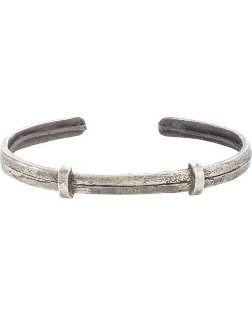 Zadeh | Metallic Textured Silver Cuff for Men | Lyst